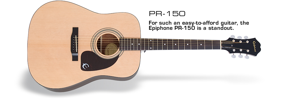 PR-150: For such an easy-to-afford guitar, the Epiphone PR-150 is a standout