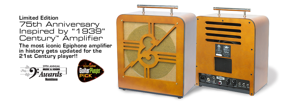 75th Anniversary Century Amplifier: The most iconic Epiphone amplifier in history gets updated for the 21st Century player!