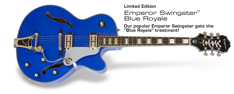 Ltd. Ed. Emperor Swingster Blue Royale: Our popular Emperor Swingster gets the Blue Royale treatment!