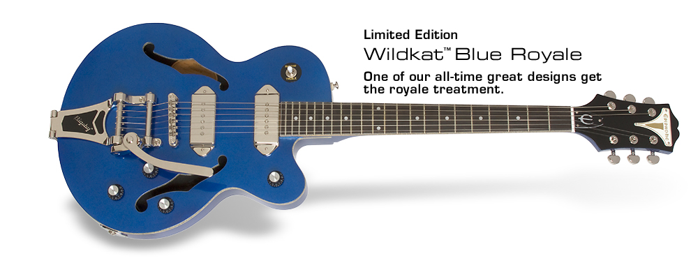 Ltd. Ed. Wildkat Blue Royale: One of our all-time great designs get the royale treatment.
