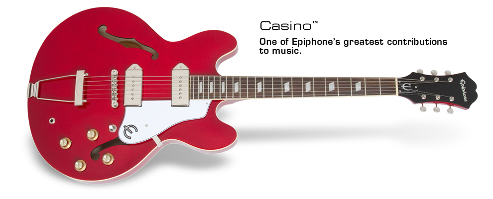 cherry red epiphone casino