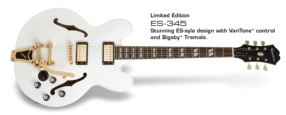 ES-345: Stunning ES-style design with VariTone control and Bigsby Tremolo