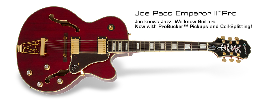 Joe Pass Emperor-II PRO: New Vintage Natural Finish plus ProBucker™ pickups with coil-splitting