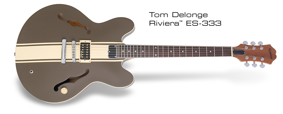 Case Design rock phone cases : Epiphone Tom Delonge ES-333