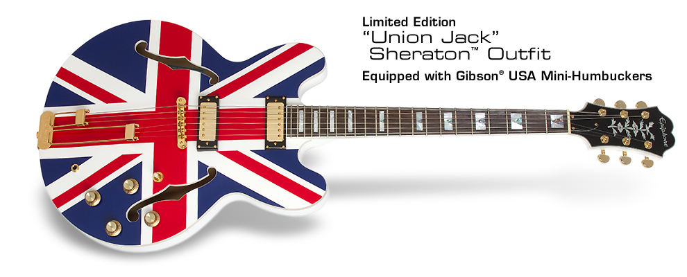 Ltd. Ed. Union Jack Sheraton: Equipped with Gibson USA Mini-Humbuckers