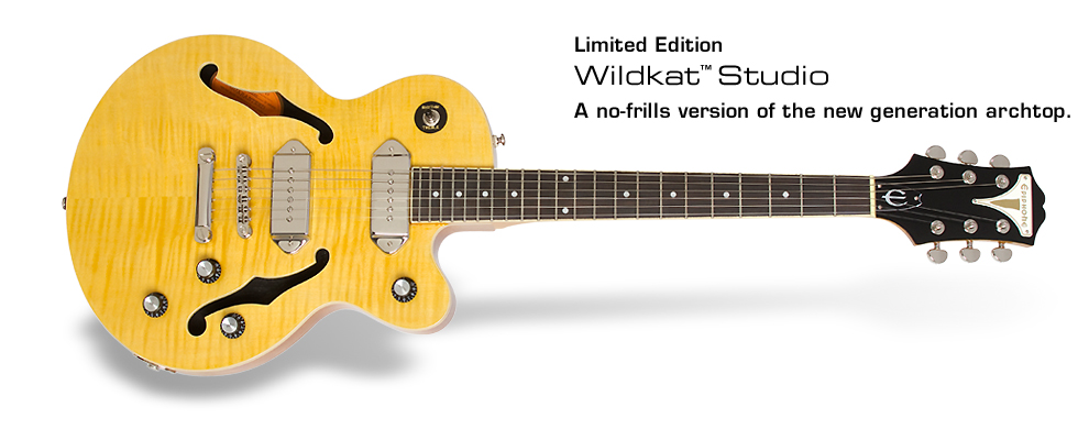 Ltd. Ed. Wildkat Studio: A no-frills version of the new generation archtop.