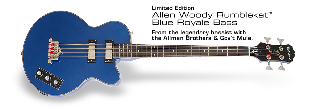 Allen Woody Rumblekat™ Blue Royale: From the legendary bassist with the Allman Brothers and Gov't Mule.