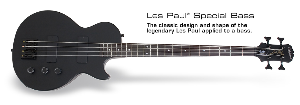Les Paul Special Bass: The classic design and shape of the legendary Les Paul applied to a bass