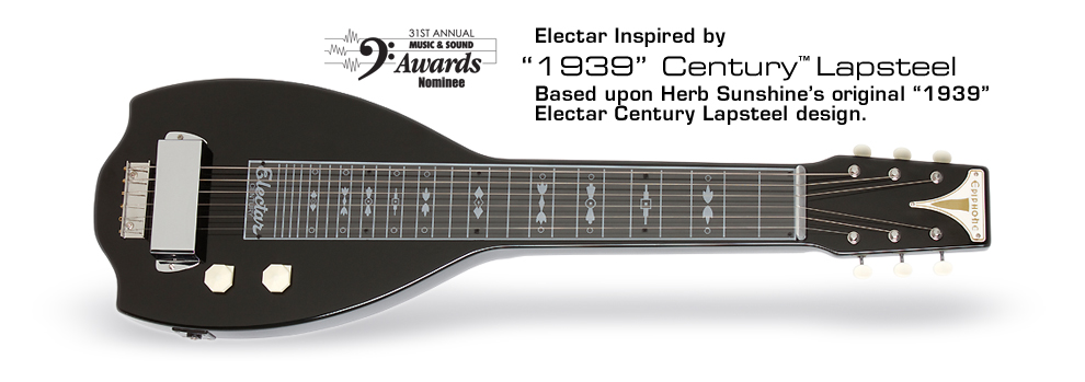 "Electar Inspired by ""1939"" Century Lap Steel Outfit: Based upon Herb Sunshine's original 1939 Electar Century Lapsteel design"