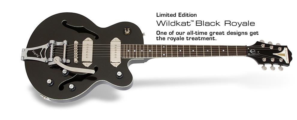Epiphone Black Royale Wildkat