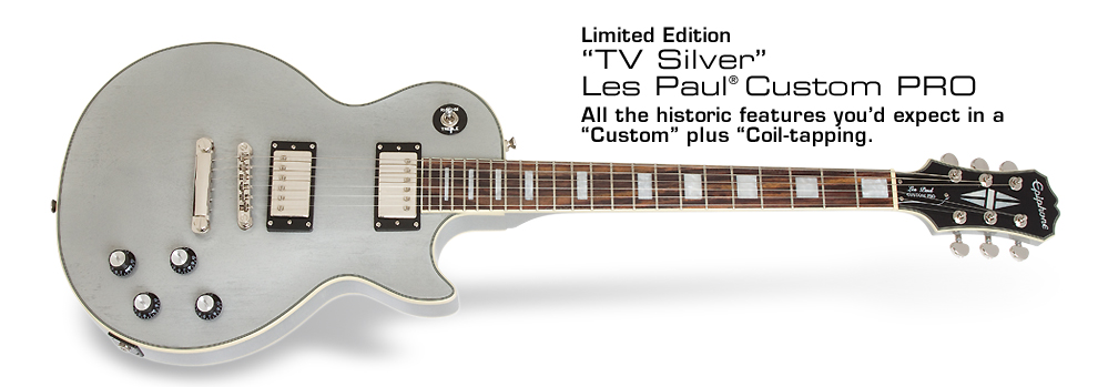 TV Silver Les Paul Custom PRO: