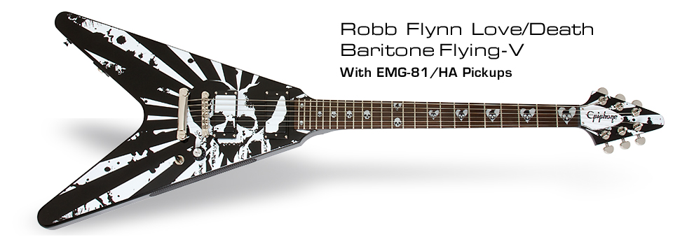 Robb Flynn Love/Death Flying V: