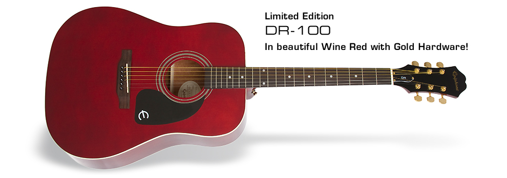 Ltd. Ed. DR-100 Wine Red: In beautiful Wine Red with Gold Hardware!