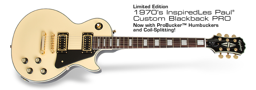 Ltd. Ed. LP Custom Blackback PRO: Now with ProBucker™ humbuckers and coil-splitting!