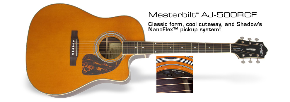 Ltd. Ed. Masterbilt AJ-500RCE: Classic form, cool cutaway, and Shadow's NanoFlex™ pickup system!