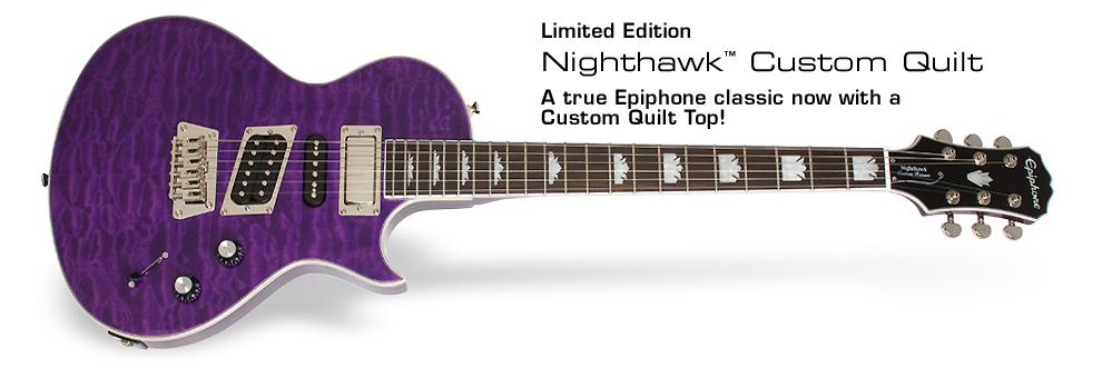 Epiphone Ltd Ed 2014 Nighthawk Custom Quilt