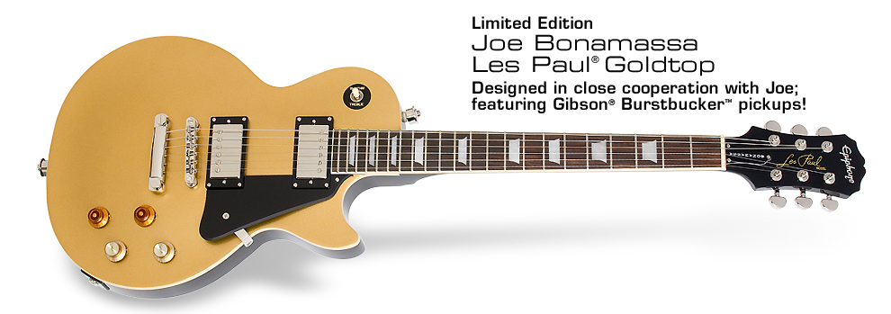 Joe Bonamassa Goldtop: Designed in close cooperation with Joe: featuring Gibson Burstbucker pickups!