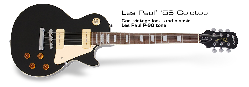 Les Paul 1956 Goldtop: Cool vintage look, and classic Les Paul P-90 tone!