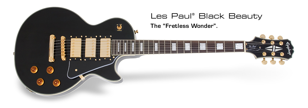 Les Paul Black Beauty 3: The Fretless Wonder