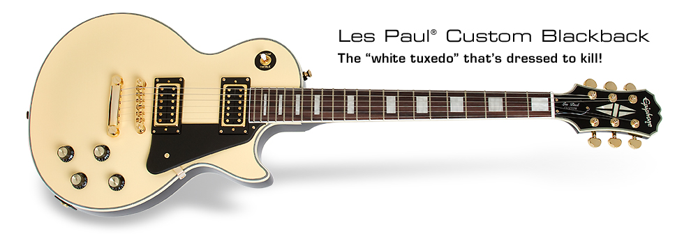 Les Paul Custom Blackback: The white tuxedo that's dressed to kill!