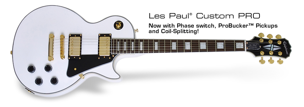 Les Paul Custom PRO: With ProBucker™ Pickups and Coil-Splitting!