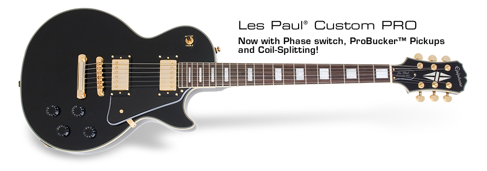 Les Paul Custom PRO: With ProBucker&amp;trade; Pickups and Coil-Tapping!