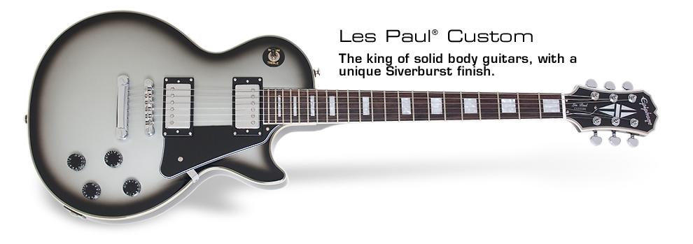 Les Paul Custom Silverburst: The king of the solid body guitars, with a unique Silverburst finish