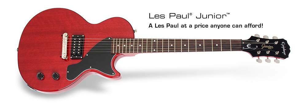 Les Paul Junior: A Les Paul at a price anyone can afford!