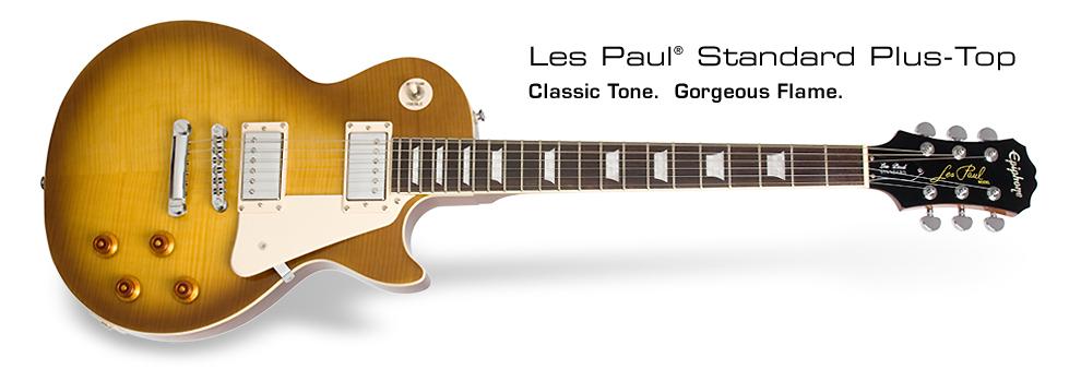 Les Paul Standard Plus Top: Classic Tone. Gorgeous Flame.