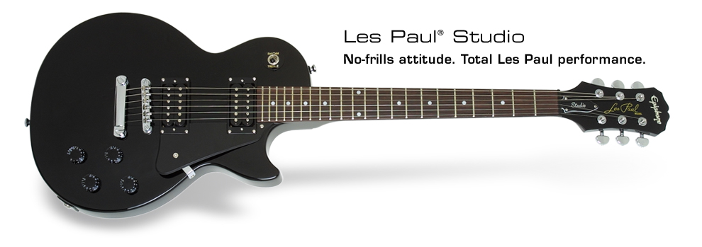 Les Paul Studio: No-frills attitude. Total Les Paul performance.