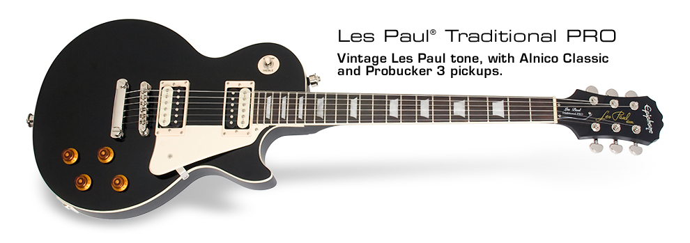Les Paul Traditional PRO: Vintage Les Paul tone, with Alnico Classic and ProBucker™ 3 pickups