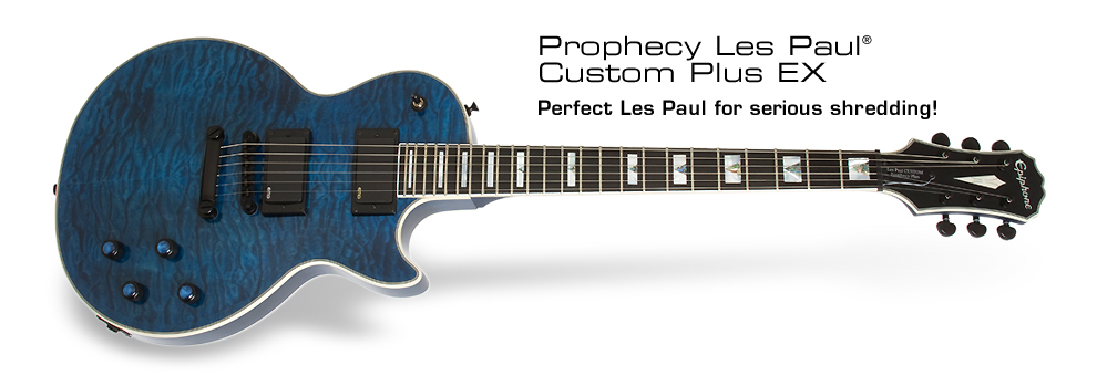 Prophecy Les Paul Custom Plus EX: Perfect Les Paul for serious shredding!