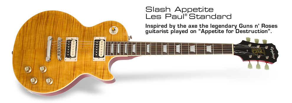 Slash Appetite Les Paul Standard: Inspired by the axe the legendary Guns n' Roses guitarist played on Appetite for Destruction