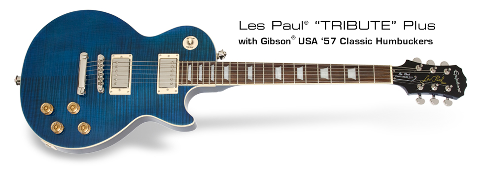 Les Paul Tribute Plus Outfit: with Gibson USA '57 Classic Humbuckers