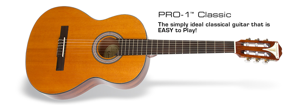 PRO-1 Classic Acoustic: A classical guitar with beautiful tone that's easy to play!