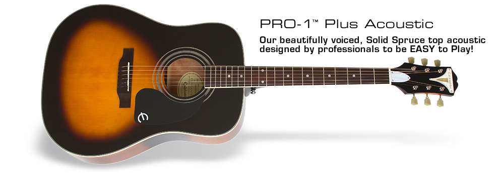 PRO-1 Plus Acoustic: With Solid Spruce Top!