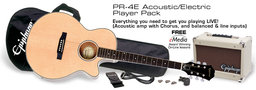 PR-4E Acoustic/Electric Player Pack: