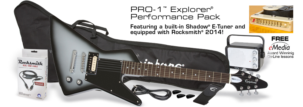 PRO-1 Explorer Performance Pack: Featuring a built-in Shadow® E-Tuner and equipped with Rocksmith®