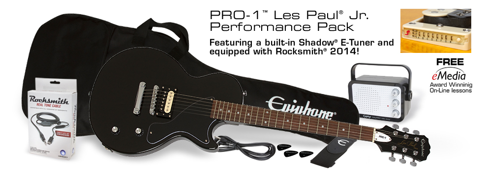 PRO-1 Les Paul Jr. Performance Pack: Featuring a built-in Shadow® E-Tuner and equipped with Rocksmith®