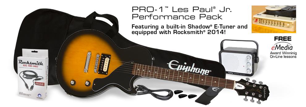 pro 1 les paul jr performance pack rh epiphone com Epiphone Les Paul Electric Guitar Epiphone Les Paul Jr Pickguard